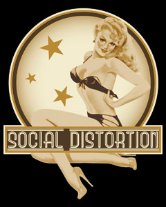 Social Distortion Sticker Pin Up
