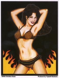 Combustible Babe Sticker